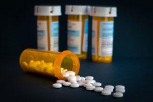 Four bottles of prescription opioids