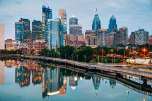 The city of Philadelphia